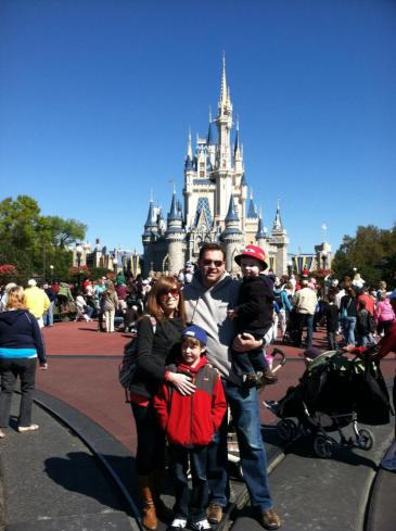 My beautiful family in the Magic Kingdom!